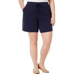 Karen Scott Sport Plus Bermuda Drawstring Shorts